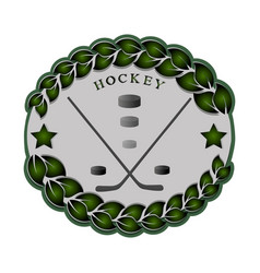 theme hockey vector image