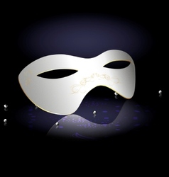 white carnival half-mask vector image vector image