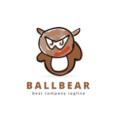 Abstract bear monster logo icon concept Logotype vector image