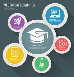 Abstract infographic flat design Workflow layout vector