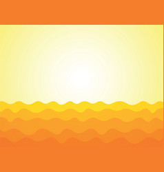 abstract yellow waves background vector image