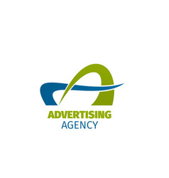 Advertising agency sign vector