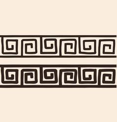 ancient greek ornament vector image