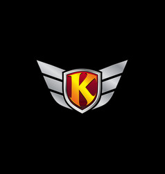 Auto guard letter k icon logo design concept vector