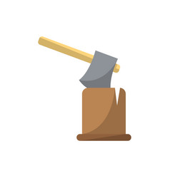 ax in log icon in flat style vector image