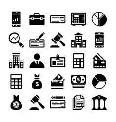 banking and finance line icons 11 vector image