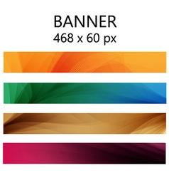 Banner modern wave vector image