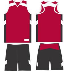 Basketball women performance game shorts jerseys vector