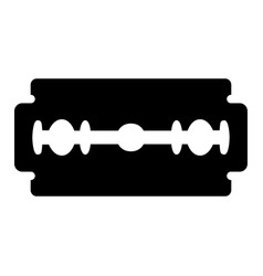 blade razor black color icon vector image