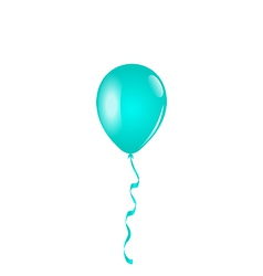 Blue balloon isolated on white background vector