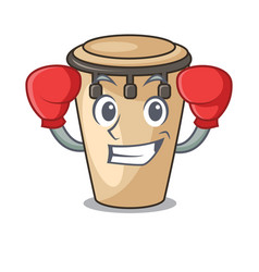boxing conga character cartoon style vector image