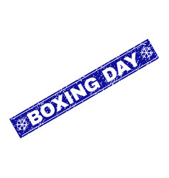 Boxing day grunge rectangle stamp seal with vector