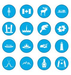canada icon blue vector image
