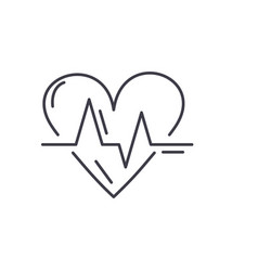 cardiology line icon concept cardiology vector image