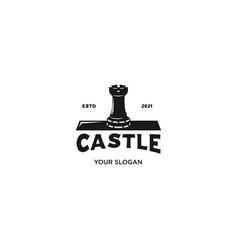 castle brool silhouette logo vector image