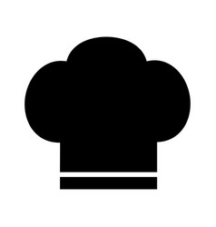 Chef icon hat silhouette on white background vector