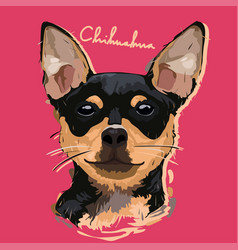 Chihuahua painting poster vector