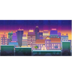 City game background 2d game application vector