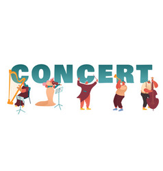 classic instrumental symphony orchestra concert vector image