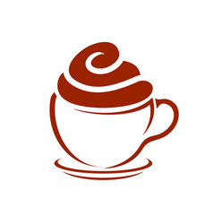 Coffee and cupcake cafe icon symbol design vector