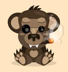 cute teddy bear smilingtoy for children vector image