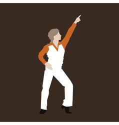 Dancer of a disco vector