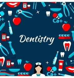 Dentistry and dental treatments banner vector image