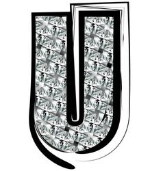 Diamond Font letter U vector image