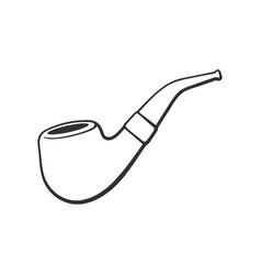 Doodle retro smoking pipe vector