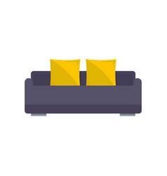 english roll sofa icon flat style vector image