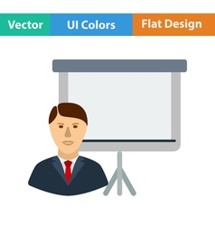 Flat design icon of Coach businessman vector image
