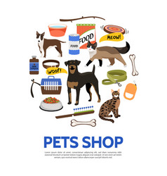 flat pet shop concept vector image