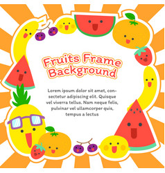 Fruits frame background vector