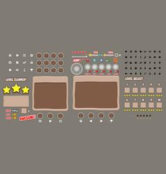 Game user interface templates vector