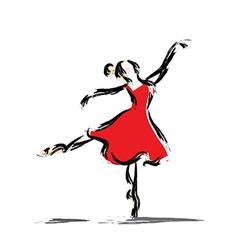 Gesture dancer drawing vector