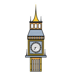 Grated big ben london journey vacation vector