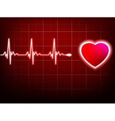 Heart beating monitor EPS 10 vector
