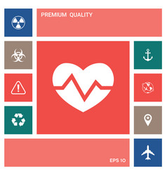 heart medical icon elements for your design vector image