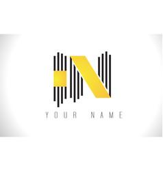 in black lines letter logo creative line letters vector image