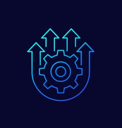 Integration optimization line icon vector