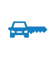 key car logo combination unique automobile vector image