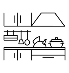 Kitchen tool silhouette vector