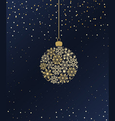 merry christmas ball vector image