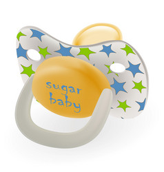 Orthodontic baby s dummy child pacifier or nipple vector