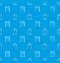 Packing list pattern seamless blue vector
