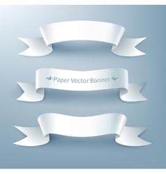 Paper ribbon banner vector