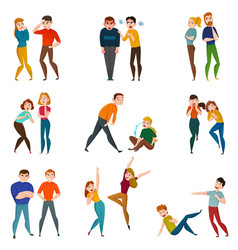 People and emotions icons set vector