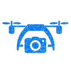 Photo drone grunge icon vector