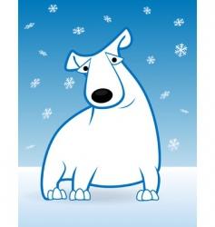 Polar bear and snow vector
