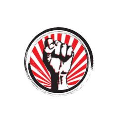 Protest rebel revolution art poster for freedom vector